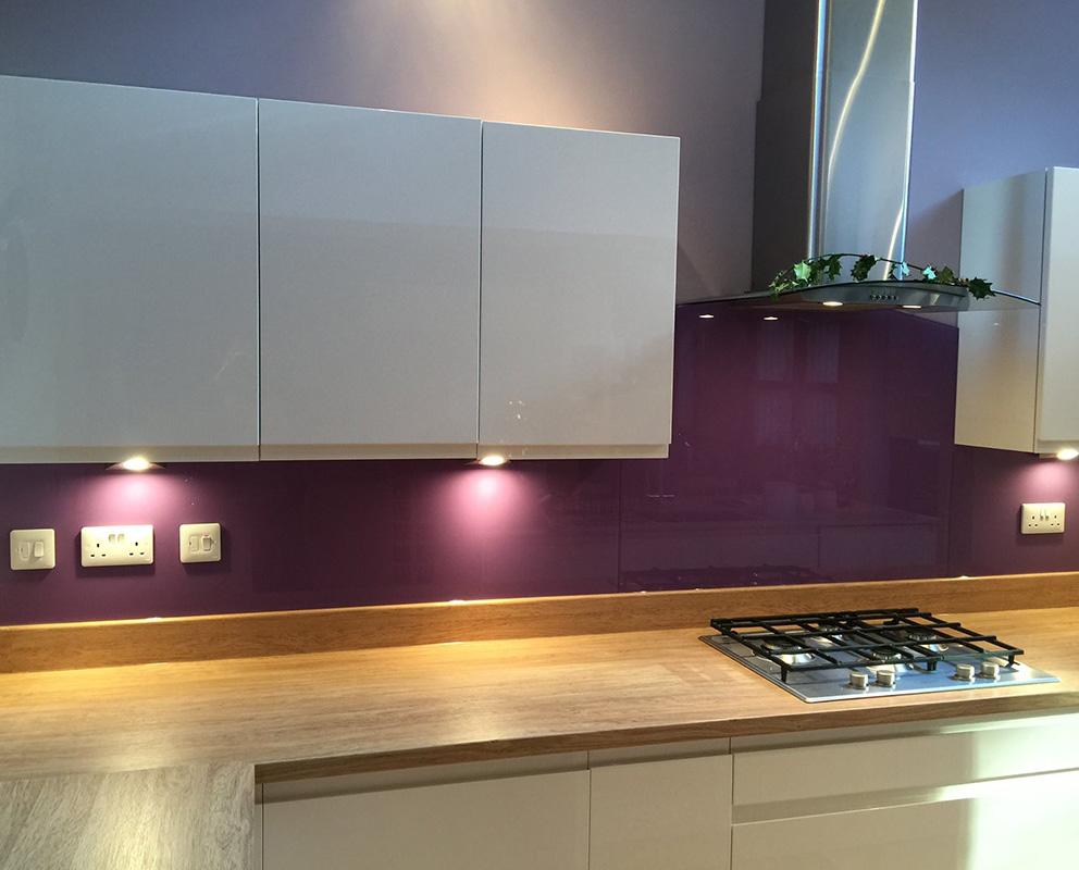 Purple Glass Splashbacks